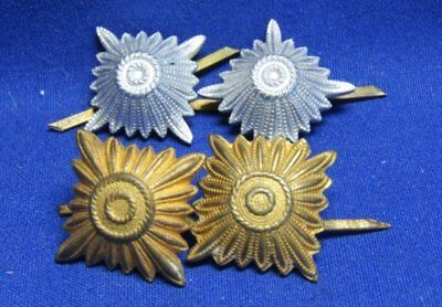 WWII German Army Shoulder Insignia Sets Lot Of 4 - TWO DIFFERENT COLORS