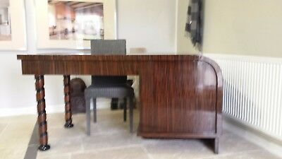 large art deco office desk Madagascar ebony