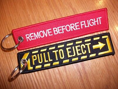 Aviation RAF Remove Before Flight & Pull To Eject Key rings uk seller  FREE P+P.