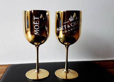 Moet & Chandon Gold Champagner Glas / Becher aus Acryl Limited Edition
