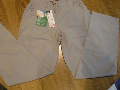 """Ladies Walking Outdoors Water Repellant treated TROUSERS  Size S 8/10 30"""" Leg"""