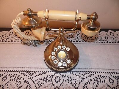 Vintage Rotary French Telephone ITT Own-a-Phone Princess Phone Retro Style Decor