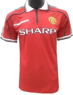 manchester united Retro Vintage 98/99 soccer Home jersey