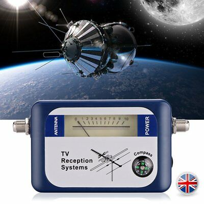 DVB-T Signal Finder Digital Aerial TV Antenna Meter LCD Display with Compass 9V