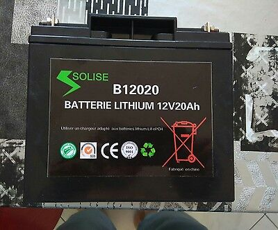 Batterie Lithium 12V20Ah  LiFePO4  SOLISE B 12020 HIGH QUALITY