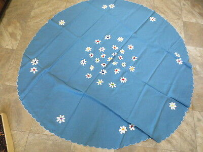 Hand  Embroider Linen Tablecloth & Napkins  Italy