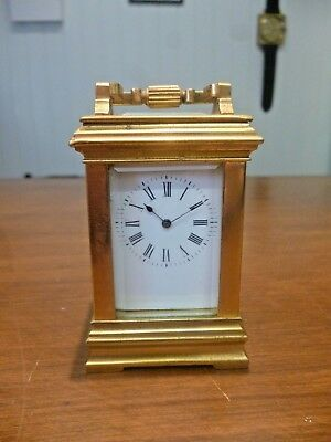 Vintage Harrods French miniature carriage clock c.1920s *Needs Attention*