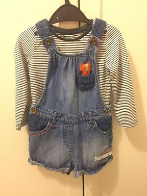 Girls Next Top And Short Dungarees 18-24 Months