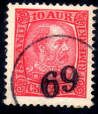 Iceland numeral canc. 69 on fac. 67 nice and sharp canc.