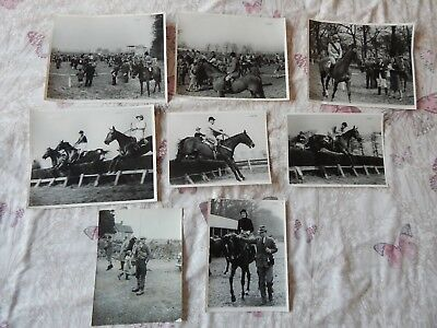 Lot of 1947 Press Photos Point to Point Horse Racing Cottenham Cambridgeshire