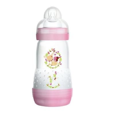 MAM Easy Start Anti Colic Bottles 2+ Months Pink | 2 3 6 12 Packs | 260ml