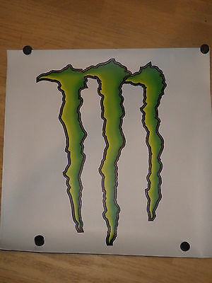 Original Monster Energy Drink Aufkleber Kralle Ca. 53 X 38 X23 Cm Motorsport