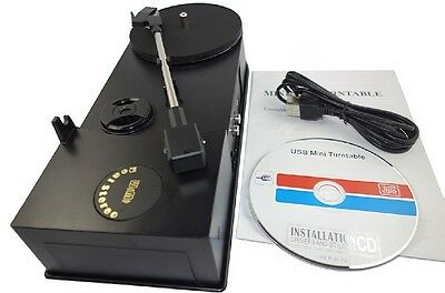 USB Turntable Record Player 33/45RPM Vinyl LP to MP3 WAV CD RCA R/L Stereo Out