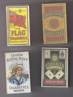 Set Of 4 Useable Ww1 British 10 Size Cigarette Packets  (Repro)