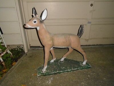 Vintage Mid Century Concrete Deer Doe Statue Lawn Garden Art, Cement, Pick Up