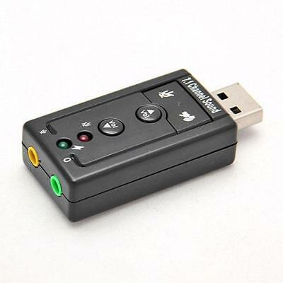 External Virtual 7.1 Channel USB 2.0 3D Audio Sound Card Laptop PC Mic Adapter M