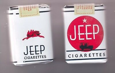 Ww2 Us Dummy Jeep Cigarette Packs  (Repro)