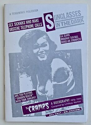 THE CRAMPS  SUNGLASSES IN THE DARK  Discography 1976-86 by Lindsay Hutton