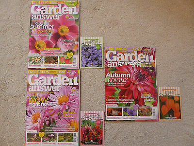 3 Garden Answers Magazines - Sep, Oct & November 2017 Including FREE Seeds