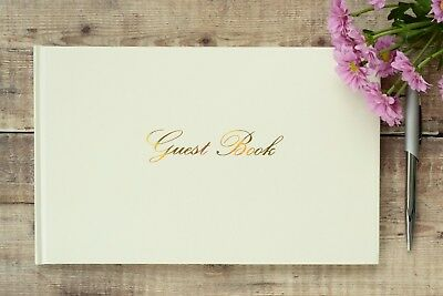 Ivory Guest Book. Wedding Guest Book. Simple Guest Book. Guest Book and Pen Set.