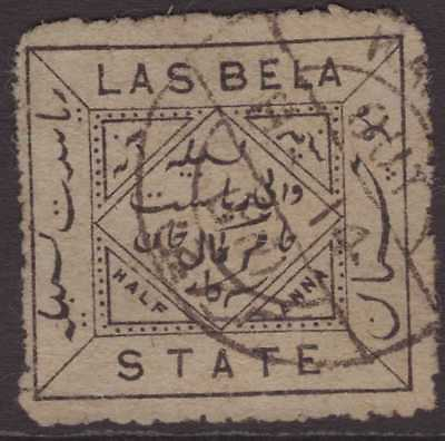 India Feud Las Bela 1899 SG3 ½a Black on Greenish-grey GU CV£16