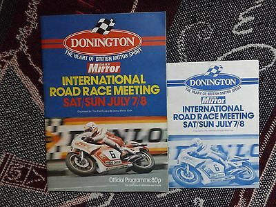 1979 Donington Programme & Racecard 8/7/79 - International Road Races