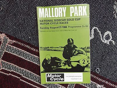 1966 Mallory Park Programme 21/8/66 - National Sidecar Gold Cup