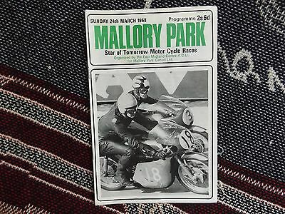 1968 Mallory Park Programme 24/3/68 - Star Of Tomorrow Motor Cycle Races