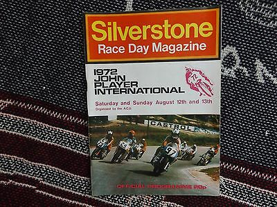 1972 Silverstone Programme 13/8/72 - John Player International