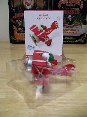 Rare 2015 Hallmark Keepsake Ornament Artist Crafted Snoopy Flying Ace NEW IN BOX