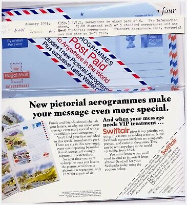 GB 1991 Airmail - Aerogramme Postal Stationery Pack Of 6~1 Pictorial.  #222