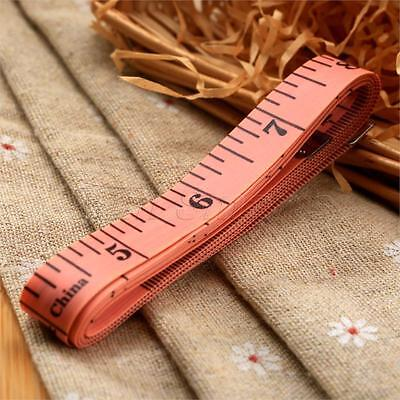"""Red Flat Tape Measure 150cm/60""""for Tailor Sewing Cloth Body Diet Measuring"""