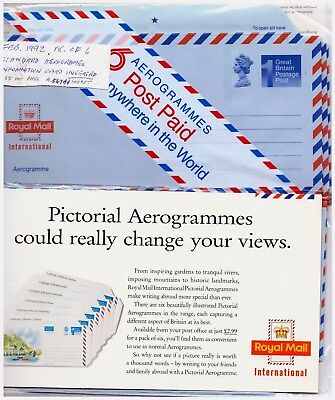 GB 1992 Airmail - Aerogramme Postal Stationery Pack Of 6. Unopened. #208