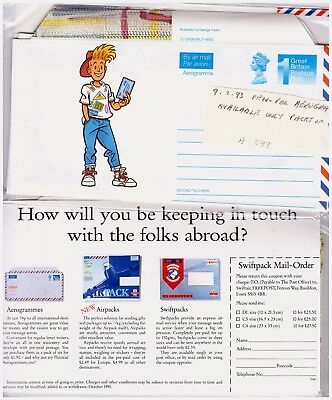 GB 1993 Pen Pal Aerogramme Postal Stationery Pack Of 6. Unopened. #1041
