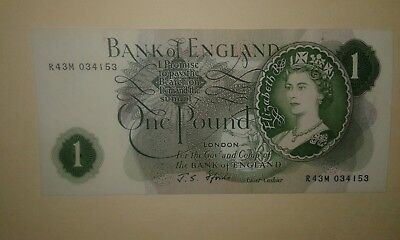 UK Great Britain Banknotes, England Replacement One Pound, 1967, EF++