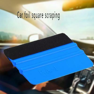 Blue Plastic Felt Edge Squeegee Car Vinyl Wrap Application Tool Scraper Decal ^d