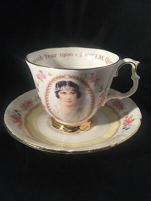 The Queen Mothers 100 Year Royal Albert Bone China Cup And Saucer Royal