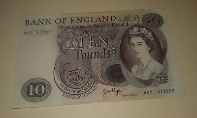 UK Great Britain Banknotes, England Page 10 Pounds Replacement M07, VF+