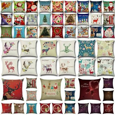 Christmas Party Sofa Case Car Cushion Cover Bedroom Decor Square Throw Pillow