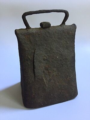 Large Antique Primitive Farm Cowbell - Hand Forged and Riveted C1800s
