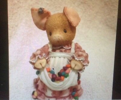 "Enesco This Little Piggy ""Pork N' Beans"" 1996 Figurine-Mary Rhyner-Nagig-RARE"