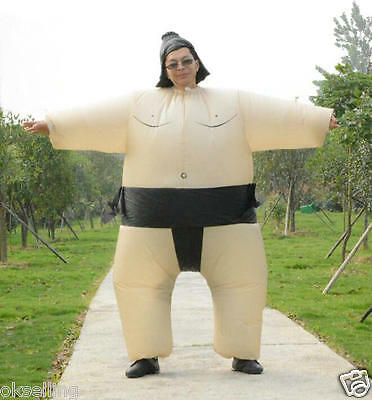 Air blown Inflatable Sumo Wrestler Costume Belly Buster clubs cosplay Jumpsuit