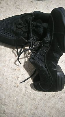 Jazz hip hop contemporary dance shoes, size 7, black Dttrol brand