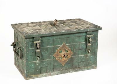 17th Century Wrought Iron German Armada Chest Lot 35