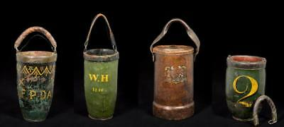 Four Miscellaneous Leather Fire Buckets Lot 49