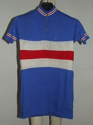 Maglia Bici Shirt Maillot Ciclismo Eroica Vintage 70's 50% Lana