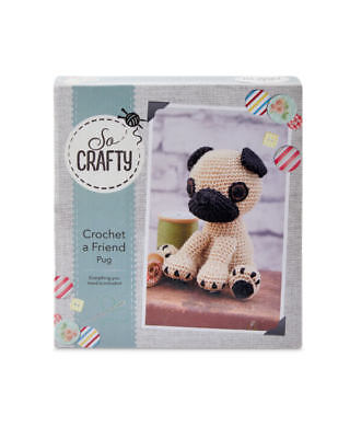 So Crafty Crochet a friend Pug Kit Complete Kit Create Your Own Pug Craft Sewing