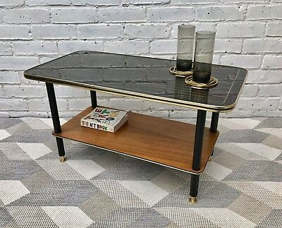 Vintage Retro Coffee Table with Lower Shelf #463