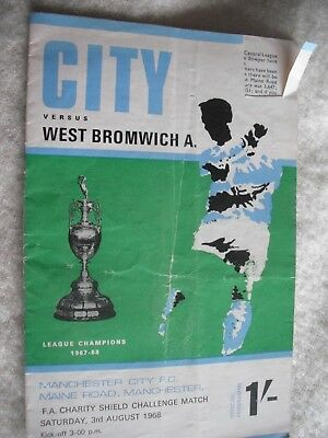 MANCHESTER CITY v WEST BROMWICH ALBION 3.8.68 Charity Shield-Jeff Astle Article