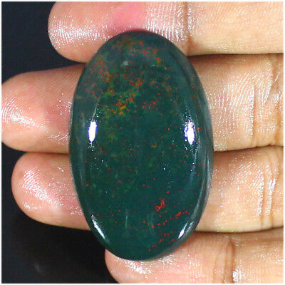 71.60 Ct Natural Gorgeous Bloodstone Oval Cabochon Loose Gemstone Stone_Artt